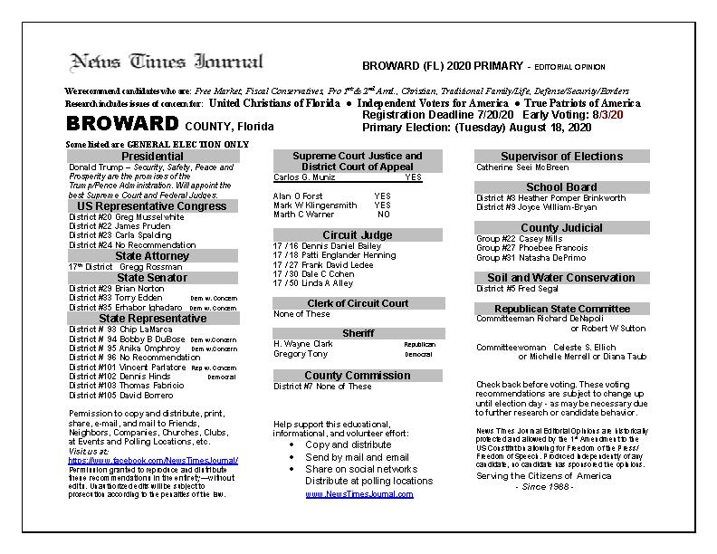 2020 FL Broward Primary