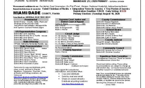 2020 FL Miami Dade Primary