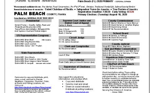 2020 FL Palm Beach Primary