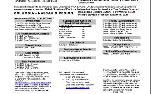 2020 FL Columbia Primary