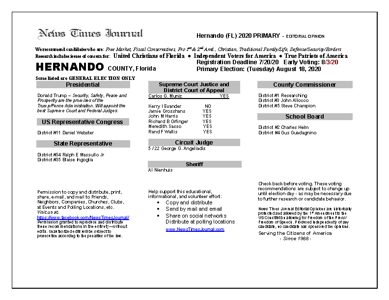 2020 FL Hernando Primary