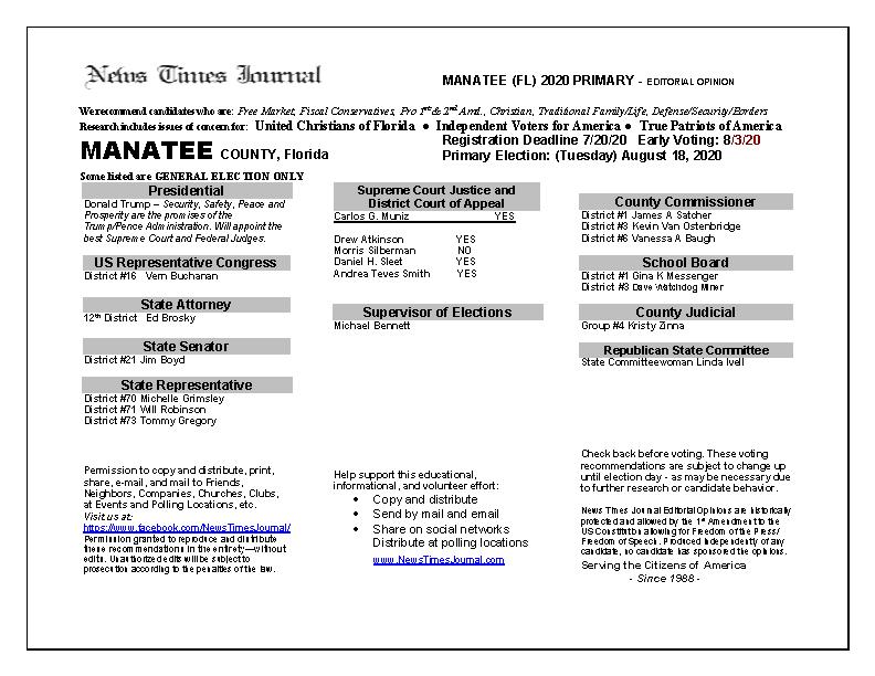 2020 FL Manatee Primary