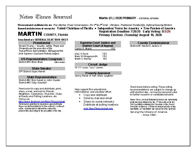 2020 FL Martin Primary