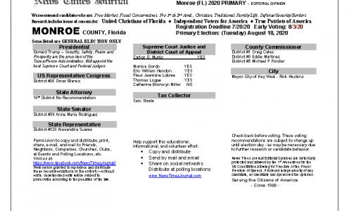 2020 FL Monroe Primary