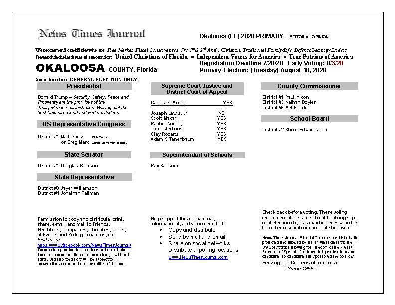 2020 FL Okaloosa Primary