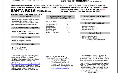 2020 FL Santa Rosa Primary