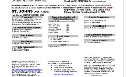 2020 FL St. Johns Primary