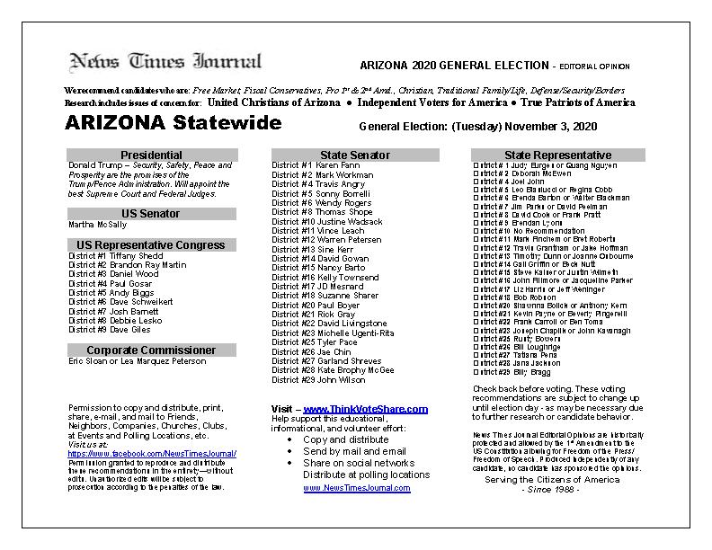 AZ Statewide 2020 General