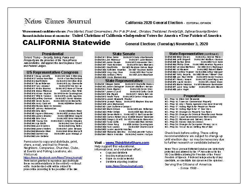 CA Statewide 2020 General