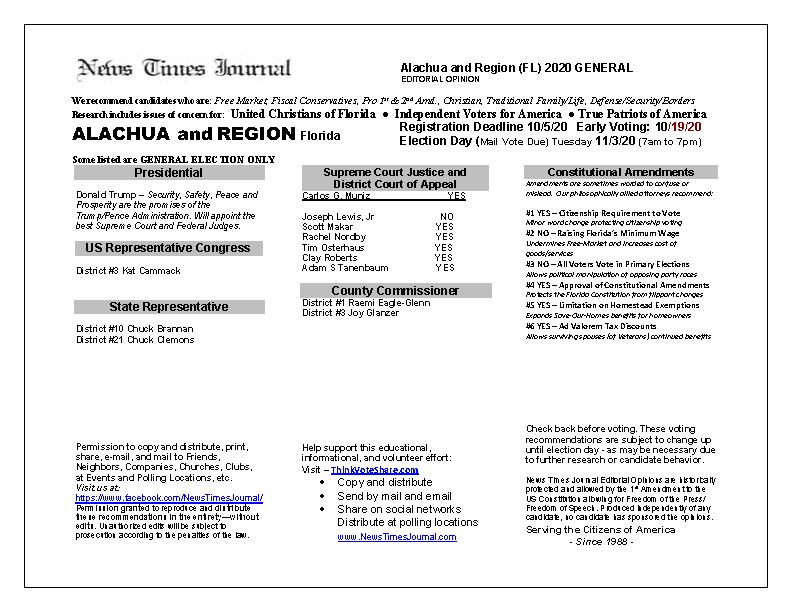 FL Alachua 2020 General