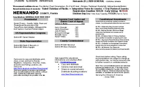 FL Hernando 2020 General