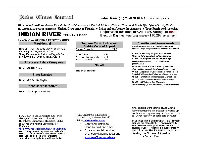 FL Indian River 2020 General