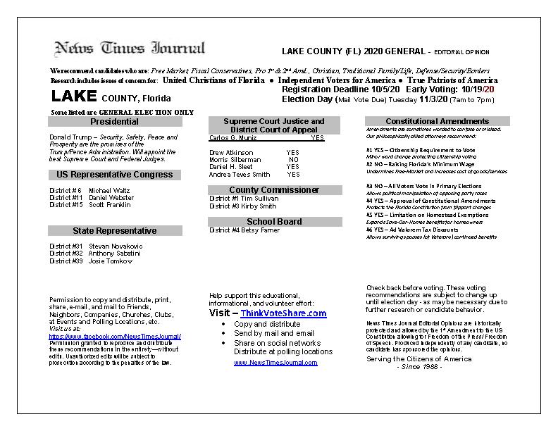FL Lake 2020 General
