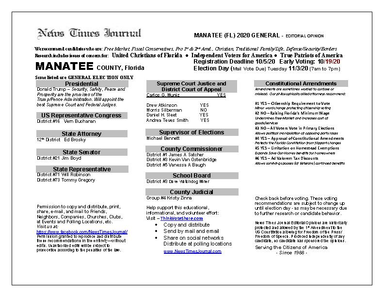 FL Manatee 2020 General