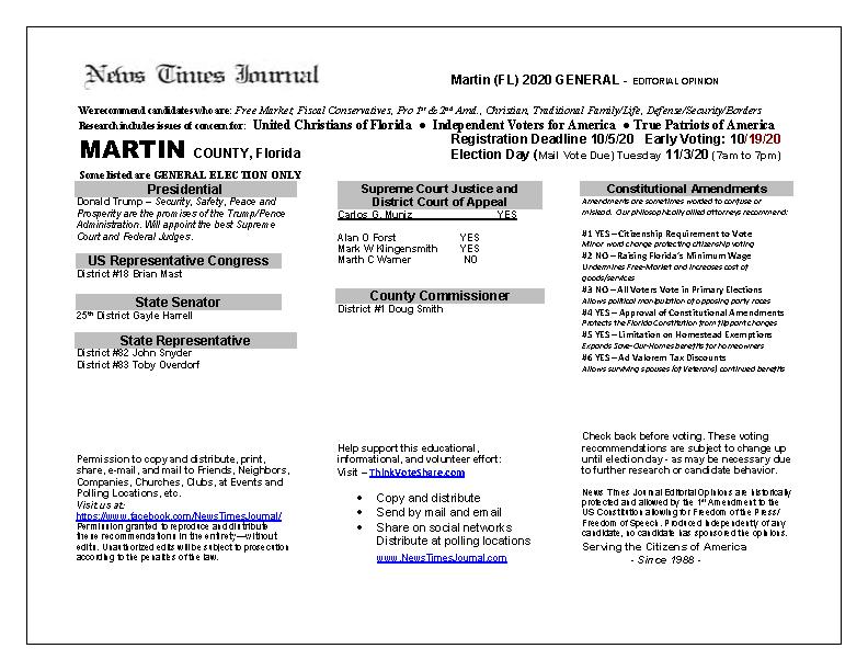 FL Martin 2020 General