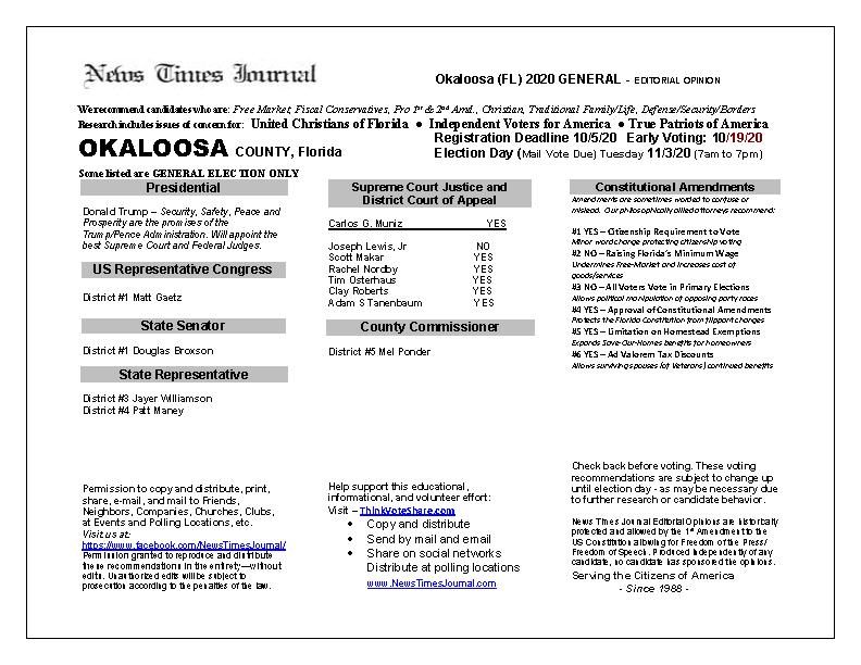 FL Okaloosa 2020 General