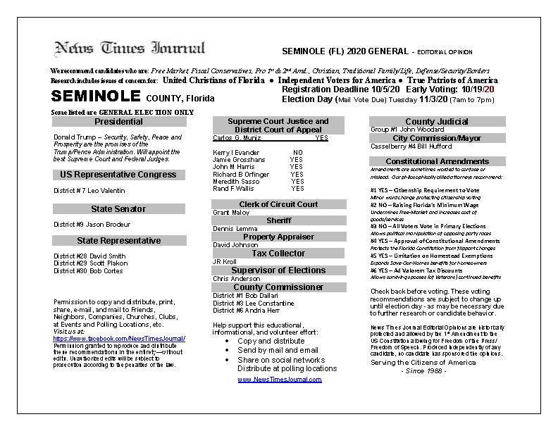 FL Seminole 2020 General