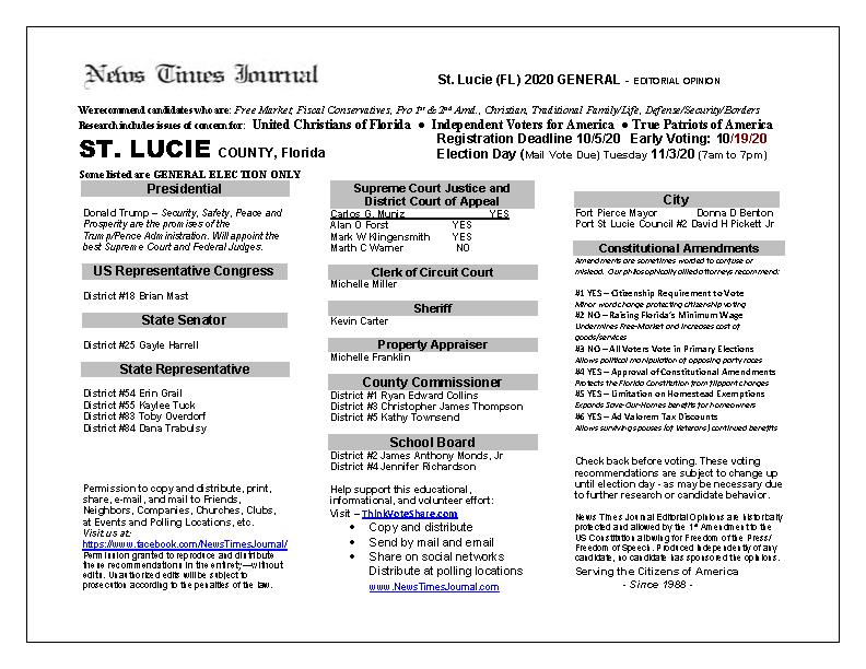 FL St Lucie 2020 General