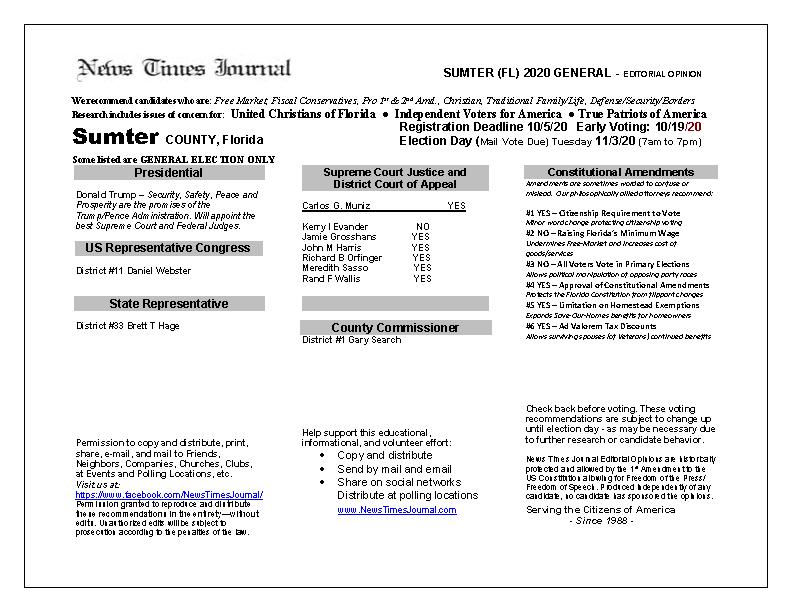 FL Sumter 2020 General