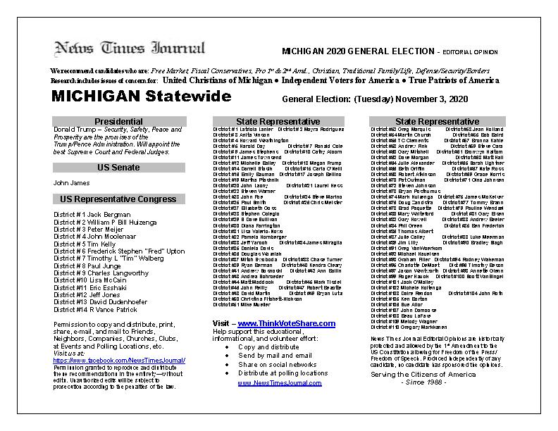 MI Statewide 2020 General