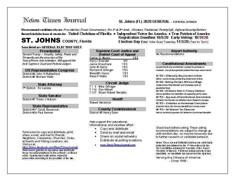 FL St Johns 2020 General