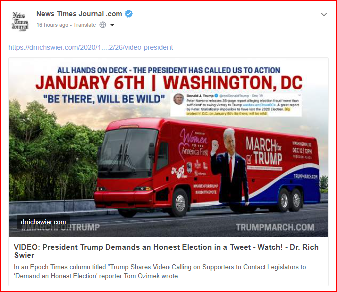 WASHINGTON, DC Rally – January 6, 2021
